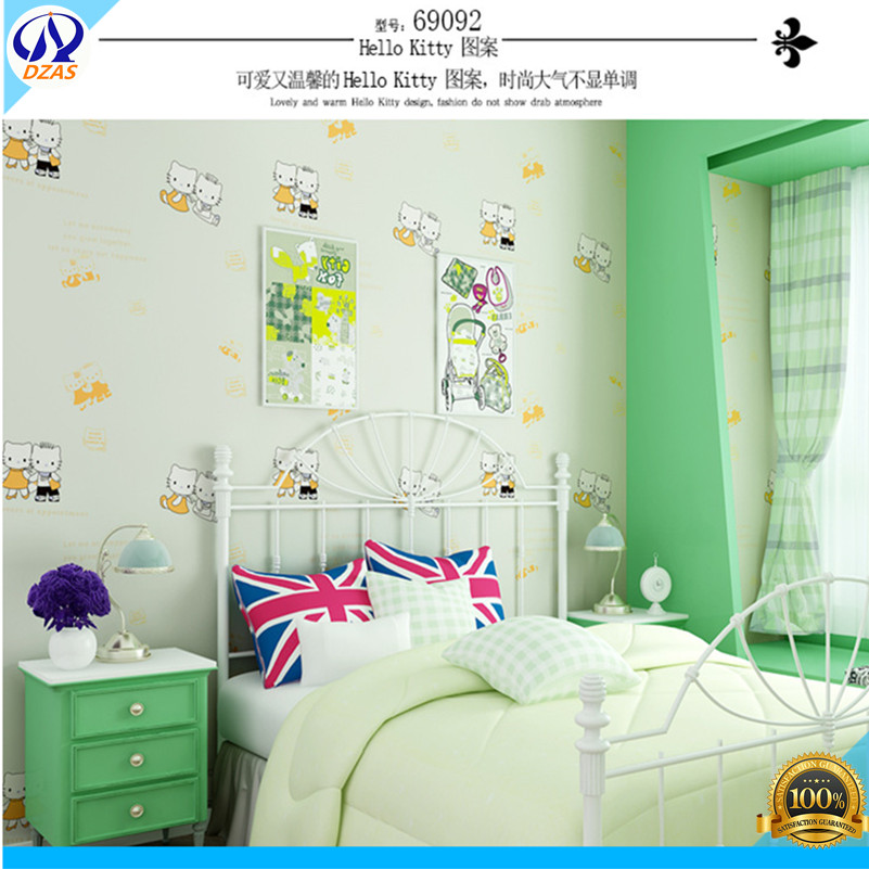 Children 's Room Non - Woven Wallpaper Green Fashion Boy Girl Background Wallpaper free shipping young children s room bedroom wallpaper non woven boy toy room 5 3m2