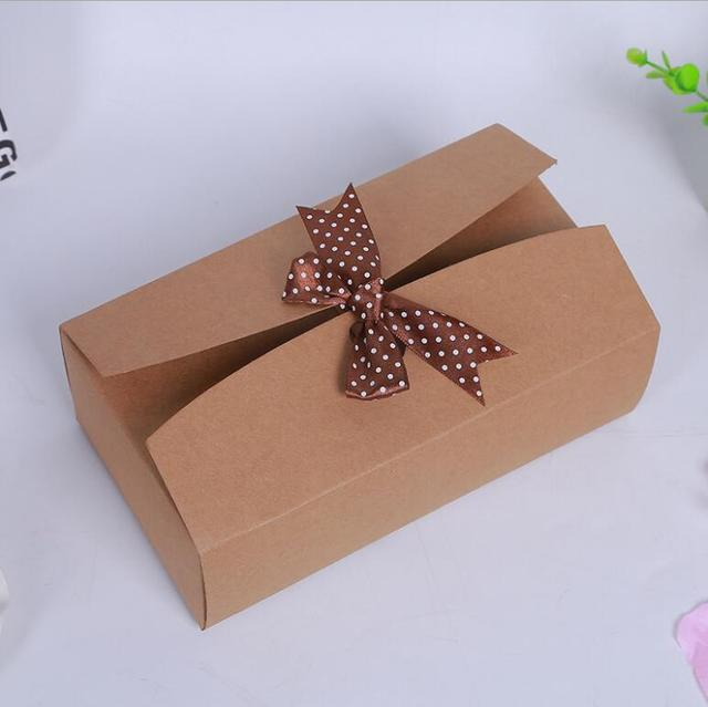 15pcs Romantic Wedding favors Decor Butterfly DIY Candy Cookie Kraft - large gift boxes with lids