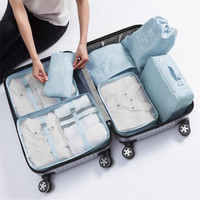 7Pcs/Set Travel Storage Bag High Capacity Clothes Tidy Pouch Luggage Organizer Portable Container Waterproof Storage Case Bags