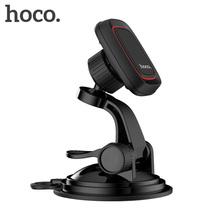 HOCO Car Magnetic Phone Holder with 3in1 Charging Cable Desktop Metal Stand for Smartphones Mount Universal iPhone Samsung