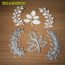 3pcs Leaves Metal Cutting Dies Stencils For DIY Scrapbooking Album Decorative Embossing Template Folder Wedding Decor Die Cuts