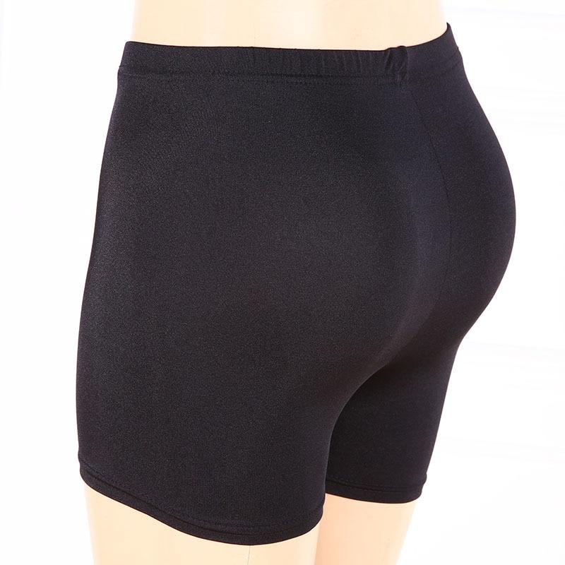 Lady Large Size Xl Short Women Black White Shine Shorts -4383