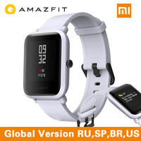 xiaomi Amazfit Beep English Version Smart Watch Xiaomi Amazfit Bip Huami Miband Pace Lite Gloness Smartwatch Heart Rate Branco