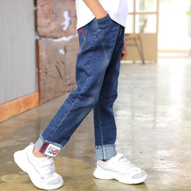 Boys pants 2018 autumn kids denim clothing big boys jeans doll cotton trousers baby children roupas infantis menina leggings Boys Jeans
