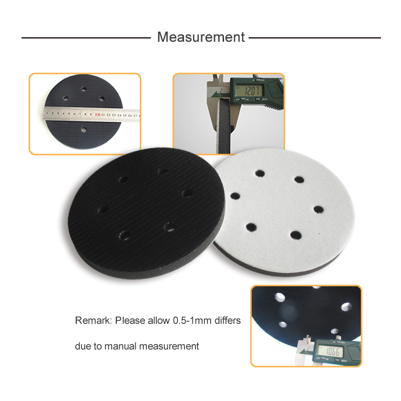6/'/' 6-Hole Soft Interface Pad Hook /& Loop Soft Foam Disc Protecting Sanding Disc