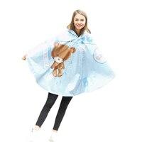 Cute Women Raincoat Poncho Pattern Portable Light Rain Coat Household Merchandise Accessories Supplies Gear Item Stuff