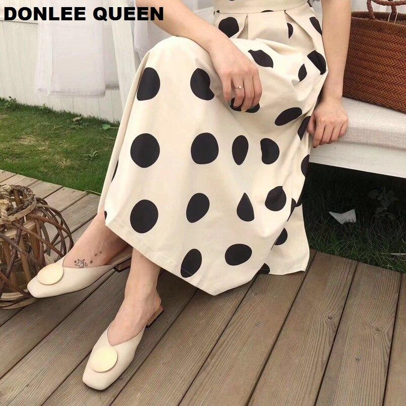 2020 Brand Designer Women Slippers Slip On Mules Flat Heel Casual Shoes British Buckle Slides Wooden Block Heels Summer Footwear 2