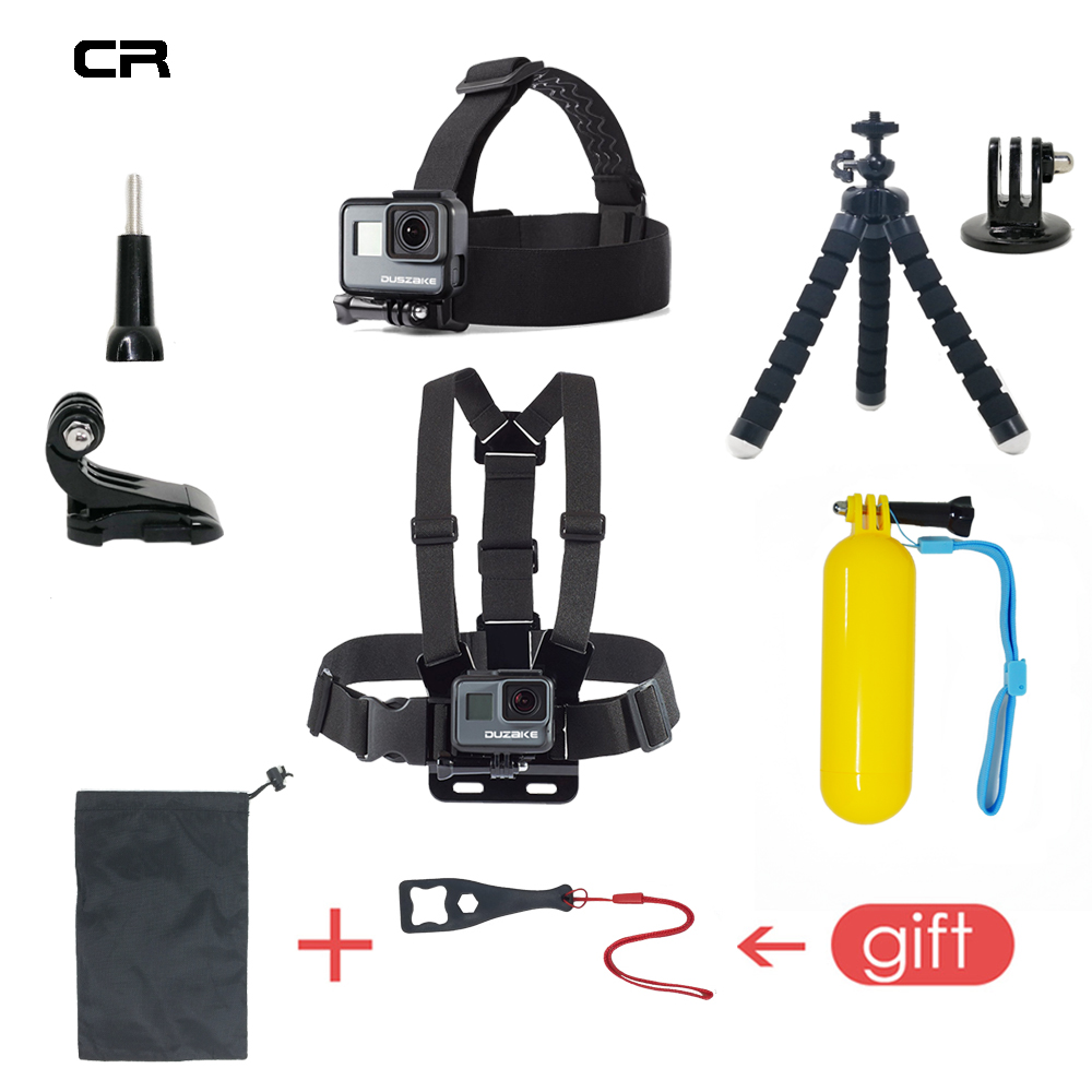 Accessories Set For Gopro Hero 6 5 Chest Mount For Go pro Hero 5 Float Grid For Xiaomi Yi 4K SJCAM Kit For EKEN H9 Action Camera цена