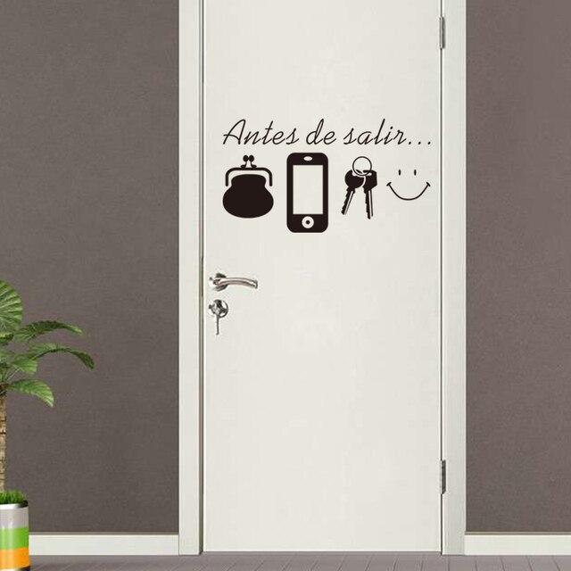 US $1.01 6% di SCONTO|Spagnolo Inglese vinile Citazioni wall stickers casa  soggiorno Porta della decorazione sticker Decalcomanie Quotidiano Prima di  ...