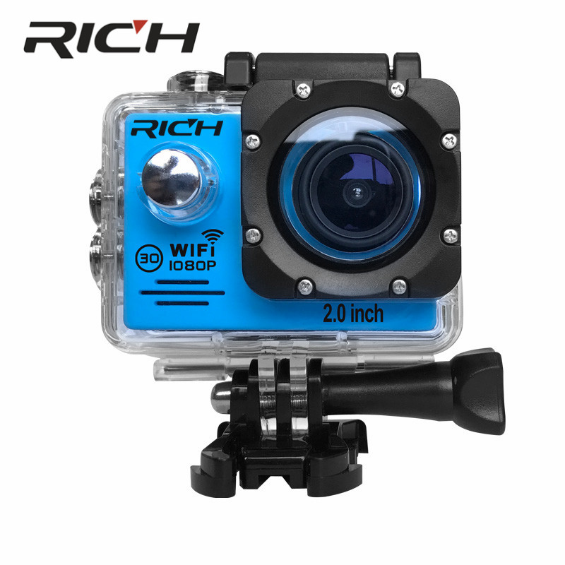 RICH SJ7000Sports Cameras 1080P Action Camera 12MP WiFi Sports Cameras 30M Waterproof 2.0LCD Full HD DVR 170