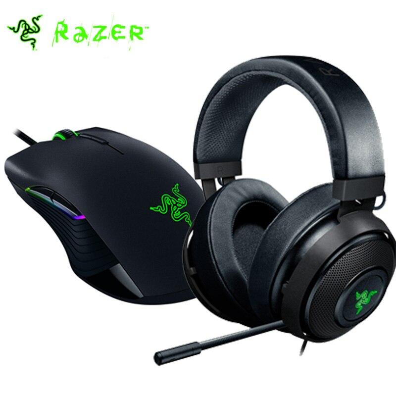 Razer Lancehead Tournoi Souris De Jeu + Razer Kraken 7.1 Chroma V2 Gaming Headset avec Rétractable Numérique Microphone