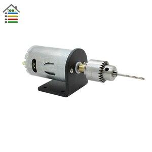 Image 2 - DIY Mini wiertarka ręczna wiertarki elektryczne zestaw części DC 12 24V silnik JT0 Chuck regulowana moc adapter do zasilacza podłączanie zacisk kablowy