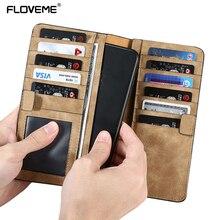 Floveme бумажник чехол для Samsung S8 S7 S6 край чехол кожаный мешок сумки для iPhone 6 6S 7 Plus Для Xiaomi mi6 Бумажник Обложка