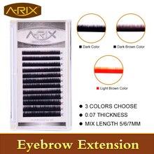 2016 New Arrial 0 07 Eyebrow Extension False Mink Eyebrow black light brown dark brown dark