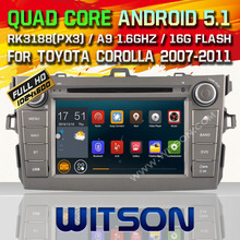WITSON Android 5.1 CAR DVD GPS for TOYOTA COROLLA car dvd Capacitive touch screen Qual-core 16GB Rom+Free Shipping+GIFT