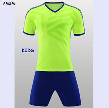 9c9350a30 ZMSM 2017 Kids Soccer Jerseys Sets Children Sportwear With stripes Football  uniform Customized Match Training suit