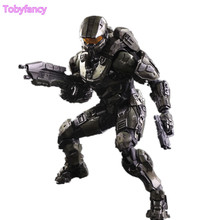 ФОТО Halo Play Arts Kai Action Figures Master Chief PVC Toy 260mm Anime Game Model Halo 5 Playarts Kai Figurine Toys