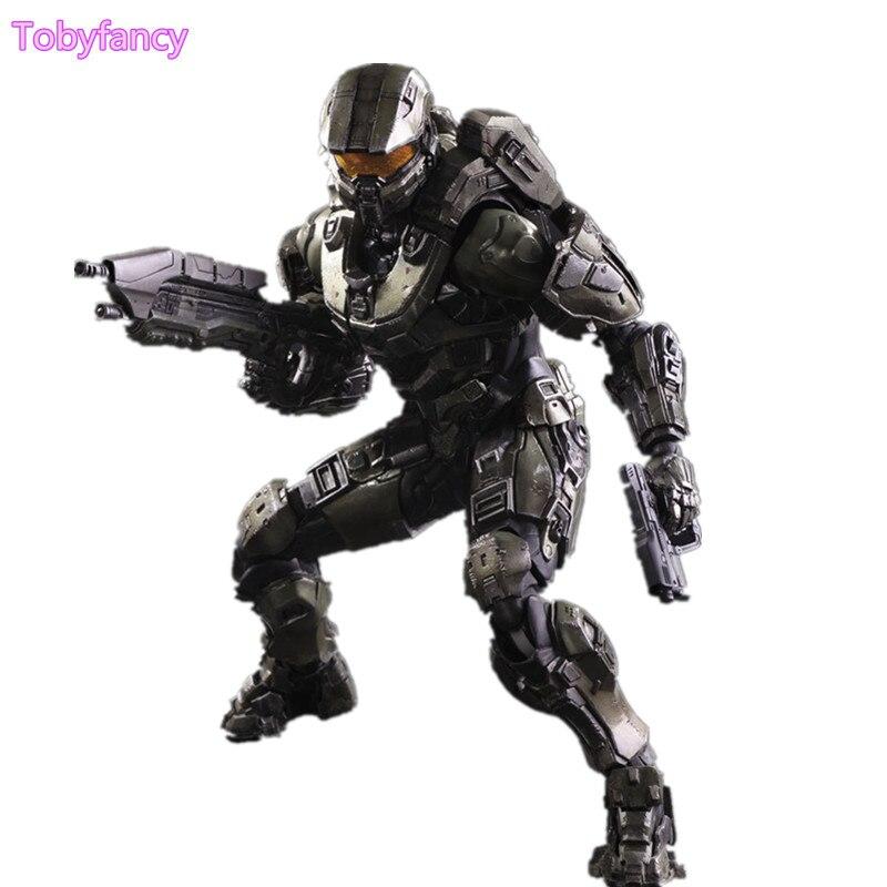 Halo Play Arts Kai Action Figures Master Chief PVC Toy 260mm Anime Game Model Halo 5 Playarts Kai Figurine Toys