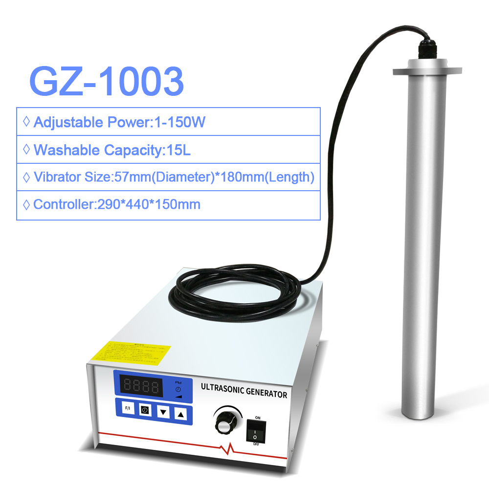 GENENG Input GZ-1003 Industrial Ultrasonic Cleaner Shock Rod Stick Oil Rust degreasing Lab Ultrasound washer цена