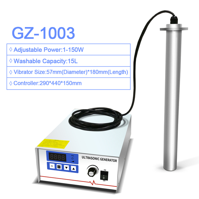 GENENG Input GZ-1003 Industrial Ultrasonic Cleaner Shock Rod Stick Oil Rust degreasing Lab Ultrasound washer Immersion