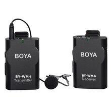 BOYA BY-WM4 Sans Fil Micro-cravate système pour Canon Nikon Sony A7 GH4 DSLR Caméscope Appareil Photo iPhone Samsung Smartphone