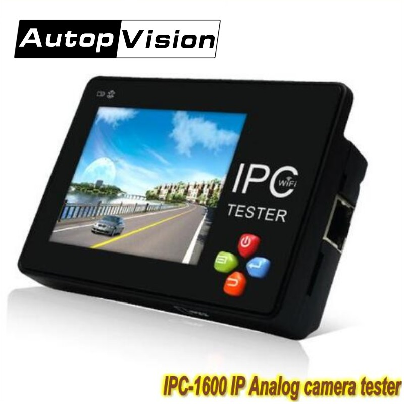 IPC1600 Plus 3.5 inch touch screen Portable IP Analog Camera tester H.265 4K CCTV Tester Monitor with WIFI ONVIF PTZ Control цена 2017