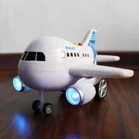 1 Pcs Electric Airplane Flash Sound Aircraft A380 Toy Model Flashing Plane Children Kids Gifts Diecasts & Toy Vehicles ABS