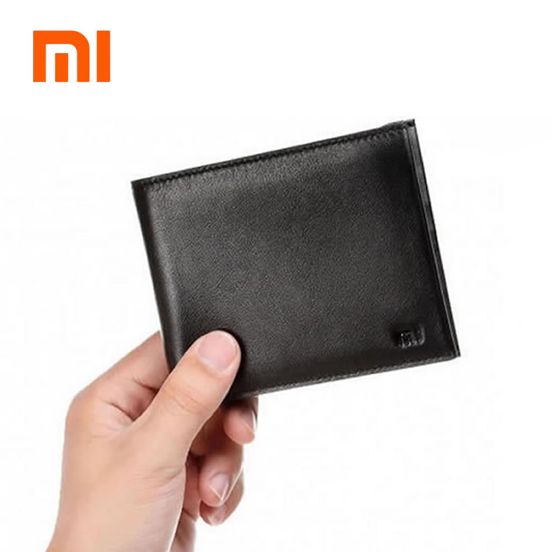 Original Xiaomi Wallets Men Full Grai Leather Fashion Short Purse Man Woman Stylish Cowhide Pocket Classic Money Holder Mi Purse
