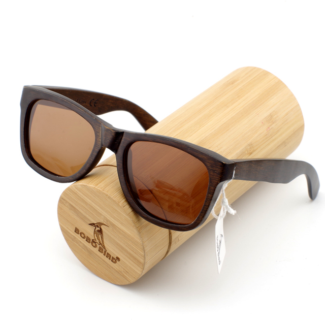 Dark Bamboo Wood Men's Sunglasses