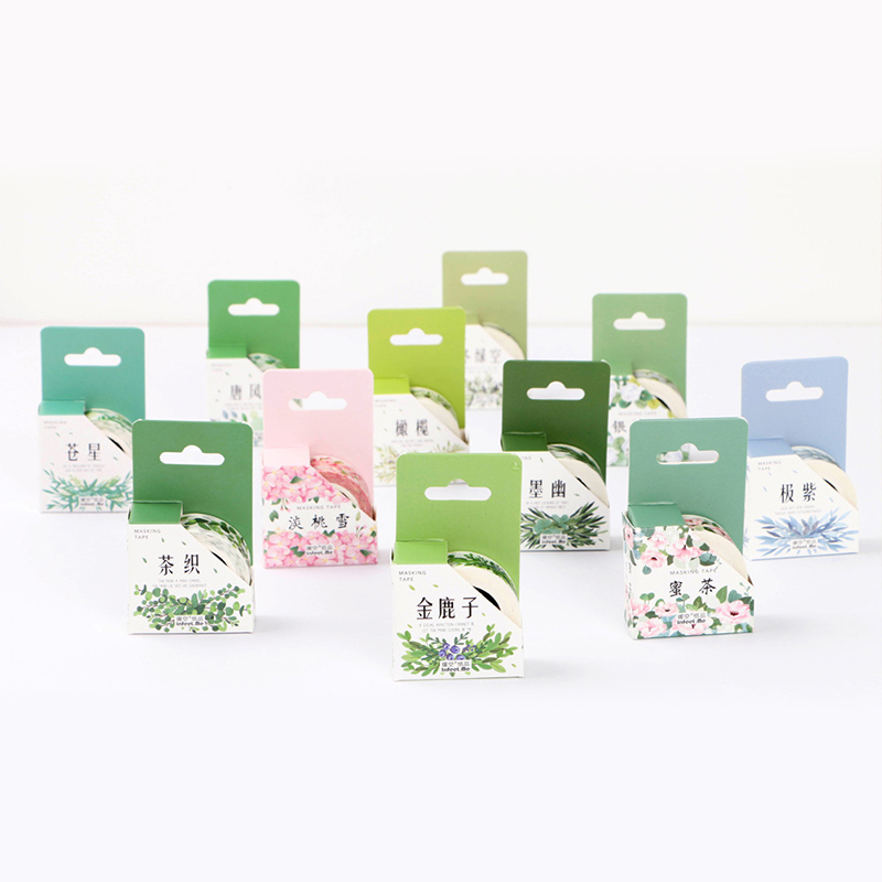 Student Cute Kawaii Green Plant Washi Tape Colored Flower Masking Adhesive Tapes Decorative Stickers For DIY Diary 596 student cute kawaii green plant washi tape colored flower masking adhesive tapes decorative stickers for diy diary 596