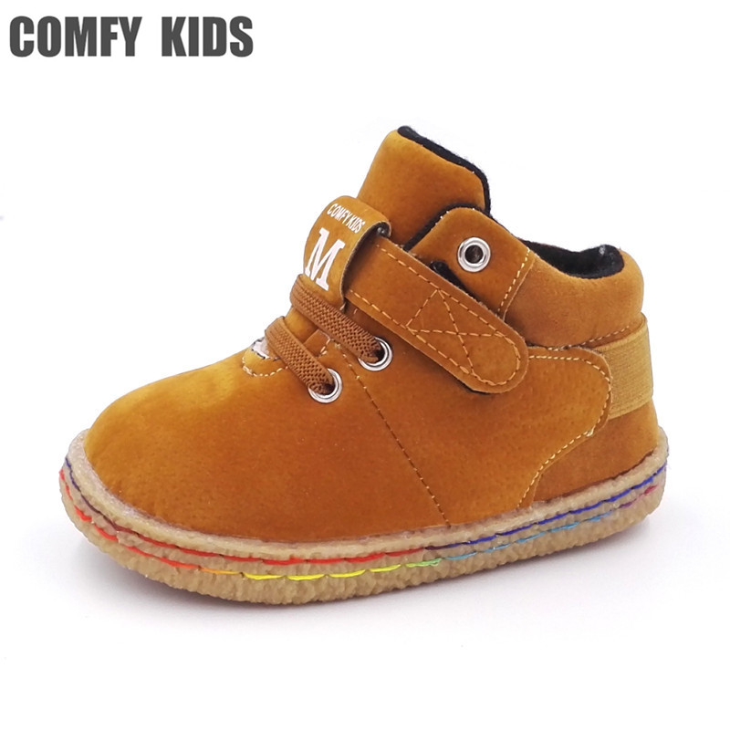 COMFY KIDS 2017 New Arrivals Child Baby Snow Boots Shoes Winter Plush Warm Baby Boys Girls Boots Cotton Shoes Fashion Boots kids
