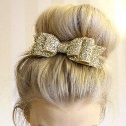 Glitter Glänzenden Pailletten Big Bowknot Barrette Haarnadel Haar Clip Mädchen Stil Zubehör Twinkle Paillette Hairgrip Mode Headwear