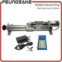 1 Set DIY Fundamental Wood Lathe Mini Lathe Machine Drill Polisher Table Saw For Polishing Cutting