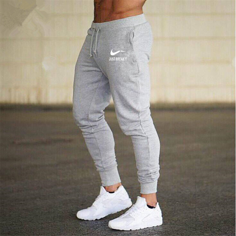 2018 New Men Joggers Brand Male Trousers Casual Pants Sweatpants Jogger Dark grey Casual Elastic cotton GYMS Fitness Workout pan