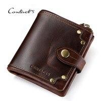 Mens Wallet Leather Genuine Mini Coin Purse Credit Card Holder Man Clutch Money Bag Luxury Brand Designer Wallet 2019 Smart