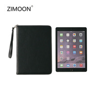 ZIMOON Case For iPad Mini 1 2 3 Luxury PU Leather Fold Cover With Card Slot Lanyard Hand Holder Strap Business For iPad Mini 2 3