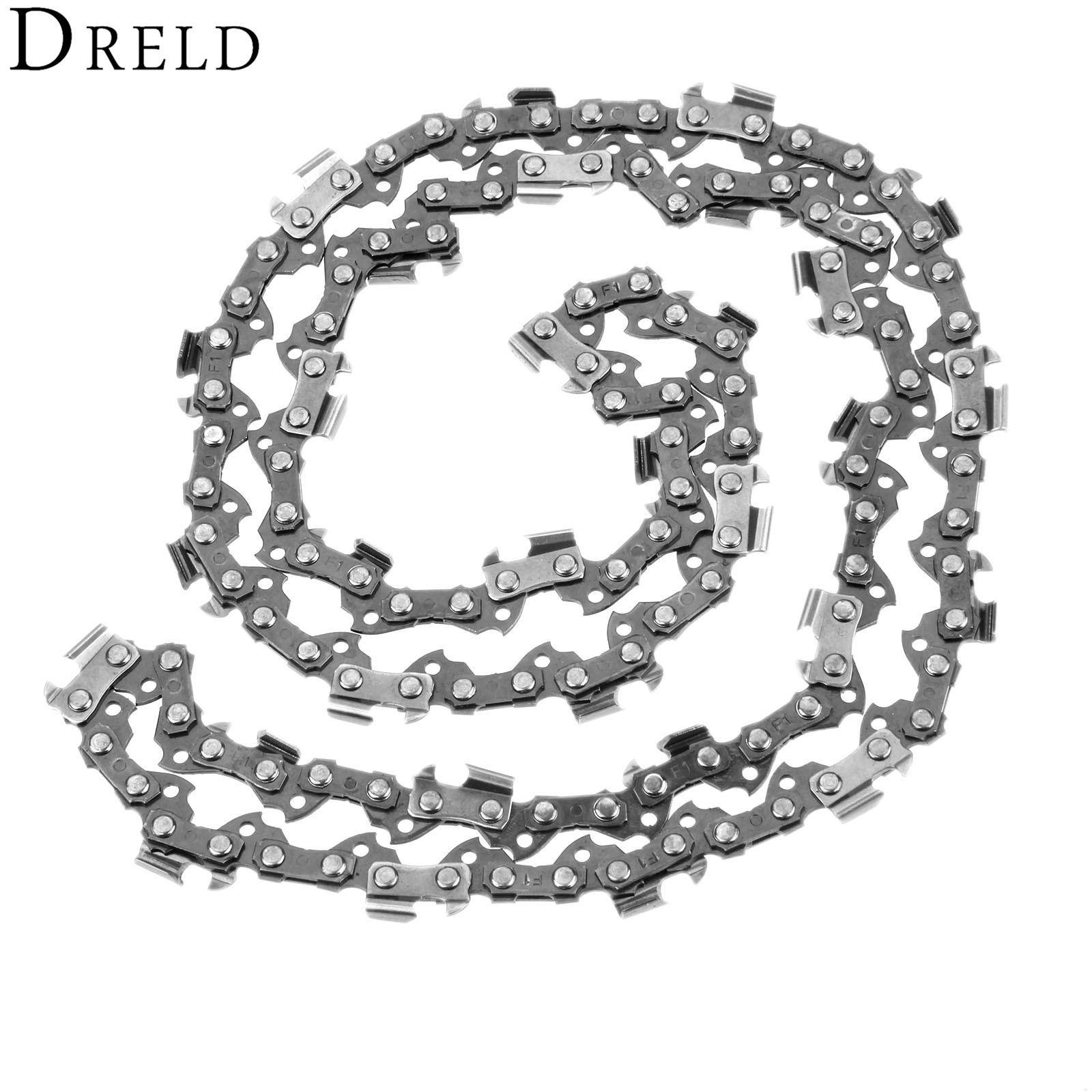 DRELD 46cm 18 Semi Chisel Chainsaw Chain 3/8 0.050 62DL Wood Cutting Saw Chain For H-omelite P-oulan Pro Models Chainsaw Parts genuine piston 36mm for zenoah g3000 g3000t chainsaw free original chain saw cheap kolben parts p n 513 5870 01