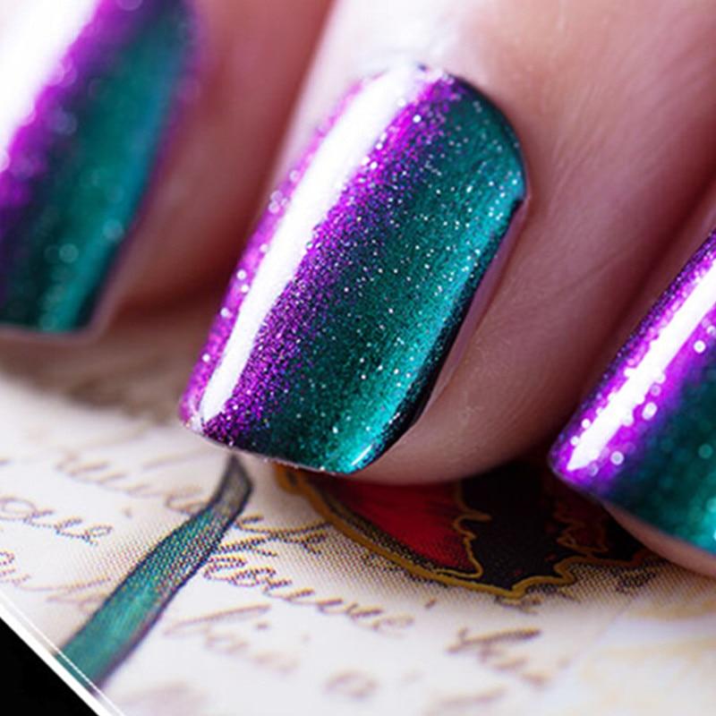 1pcs 3d Chameleon Gel Polish Holographic Color Changing 10ml Uv Gel Nail Polish 12 Color For