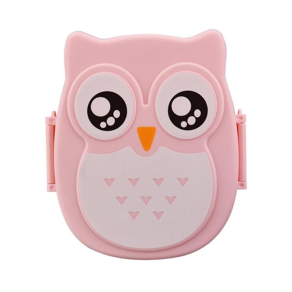 Kawaii Candy Barva Owl Oběd Box Mikrovlnná trouba Bento Kontejner Case Dinnerware Dětský dárek k narozeninám