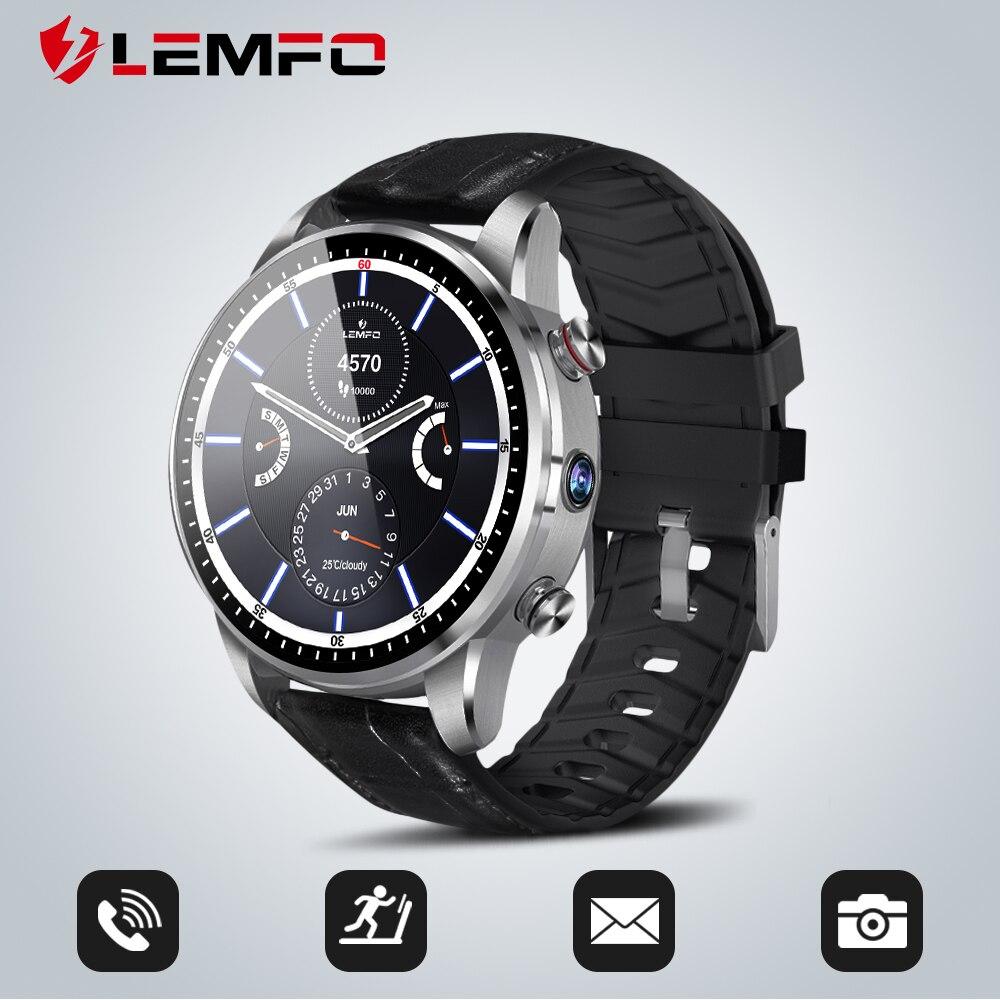 LEMFO LEF3 4G montre intelligente Android 7.1 GPS Bluetooth boîtier en acier montre téléphone moniteur de fréquence cardiaque 1 GB + 16 GB mémoire avec caméra 2MP-in Montres connectées from Electronique    1