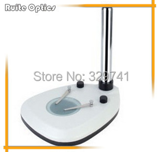 Binocular Trinocular continuous Zoom Stereo Microscope Pillar Sector Base Stand with Reflected and transmitted LED illumination binocular trinocular continuous zoom stereo microscope vertical base stand