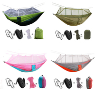 F Nelon Handy Portable Hammocks Folded Into The Pouch Mosquito Nets Outdoor Furniture Hanging Bed For