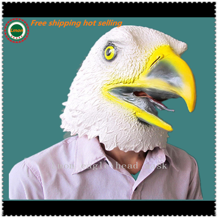 2016 Halloween Masquerade Cosplay Masks Eagle Mask Latex Animal Costume Prop Halloween Animal Eagle Mask Free Shipping image