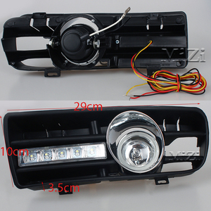 Image 4 - 2pcs Led DRL Daytime Running Lights Fog Lights Lamps Grille led Grill For VW Golf GTi 1997 2006 for TDI MK4 W/ Controller H3 55W