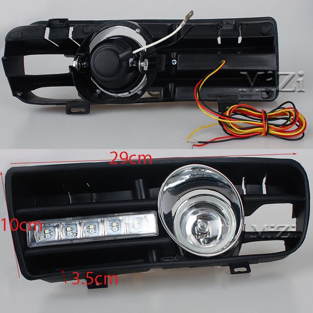 Led Daytime Running Lights Fog Lights Lamps For VW Golf GTi 1997-2006 for TDI MK4 W/ Controller H3 55W