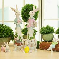 Creative wedding present Home living room craft decorations Wine cabinet TV cabinet practical decoration resin rabbit decoration