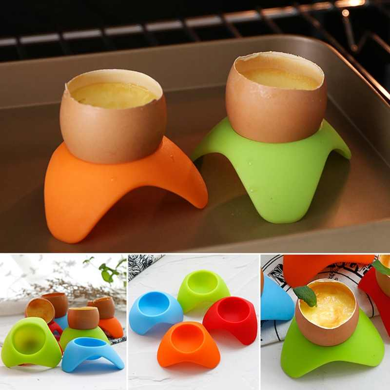Food Grade Silicone Egg Cup Holder Eggs Frame Steam Eggs Seat Silicone Egg Tools