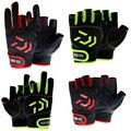 1 пара Противоскользящих рыболовных перчаток DAIWA с 3 пальцами  водонепроницаемые перчатки из искусственной кожи с 5 пальцами  перчатки для ох...