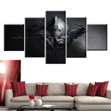 5 Panel LOL League of Legends Riven/Yasuo Game Canvas Printed Painting For Living Wall Art Home Decor HD Picture Artworks Poster