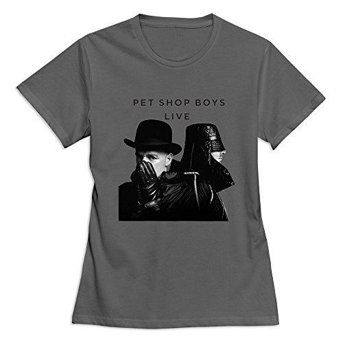 Pet Shop Boys Camiseta del Tamaño de las mujeres EE. UU. Blanco